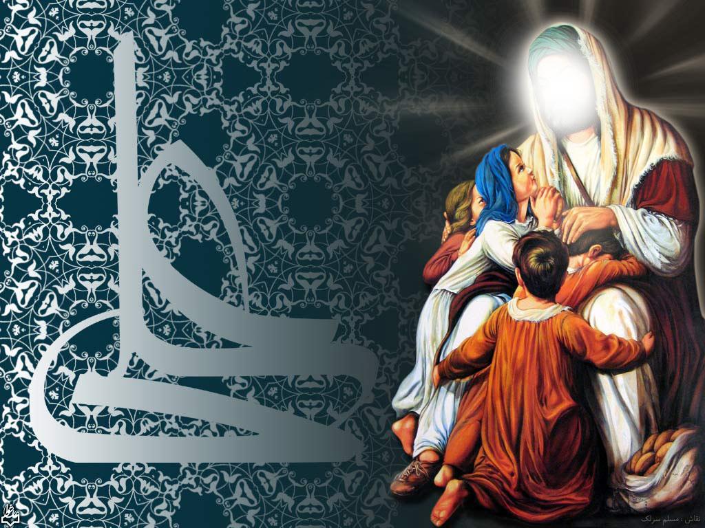 امام علي(ع),کاسه شير,يتيم